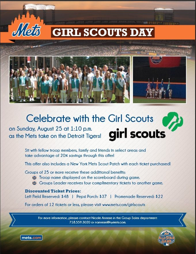 Celebrate with the Girl Scouts of Nassau County Chorus at Girl Scout Day with the New York Mets. #GSNC #GSChorus #GirlScouts #NYMets #CitiField #GirlScoutDay