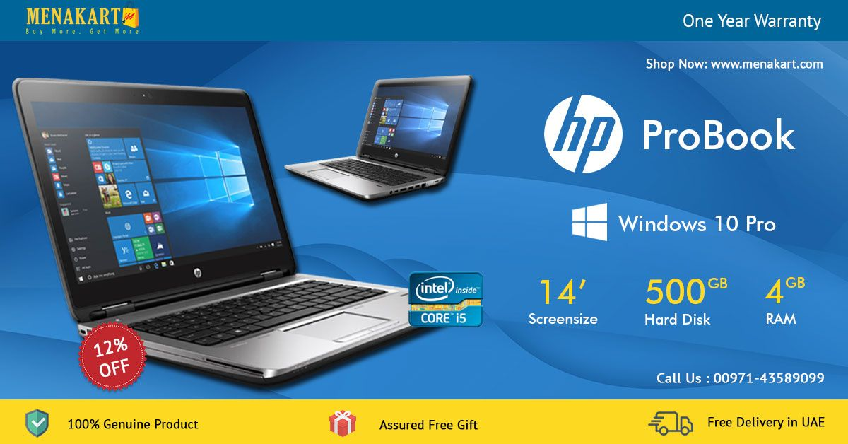Buy Hp Pro Book 640g3 14 Inch Hd Ag Led Laptop In Dubai At Best Prices From Menakart Com Probook Laptop Hp Laptop