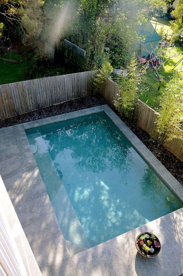 40 Exciting Small Pool Design Ideas For Your Small Yard Small Pool Design Small Backyard Pools Small Pools