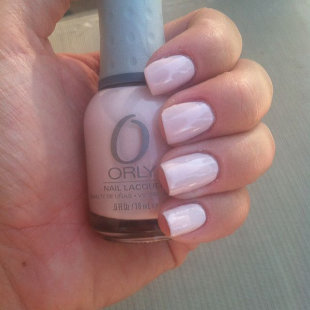 Just painted my nails with Orly Kiss the Bride, love it ...