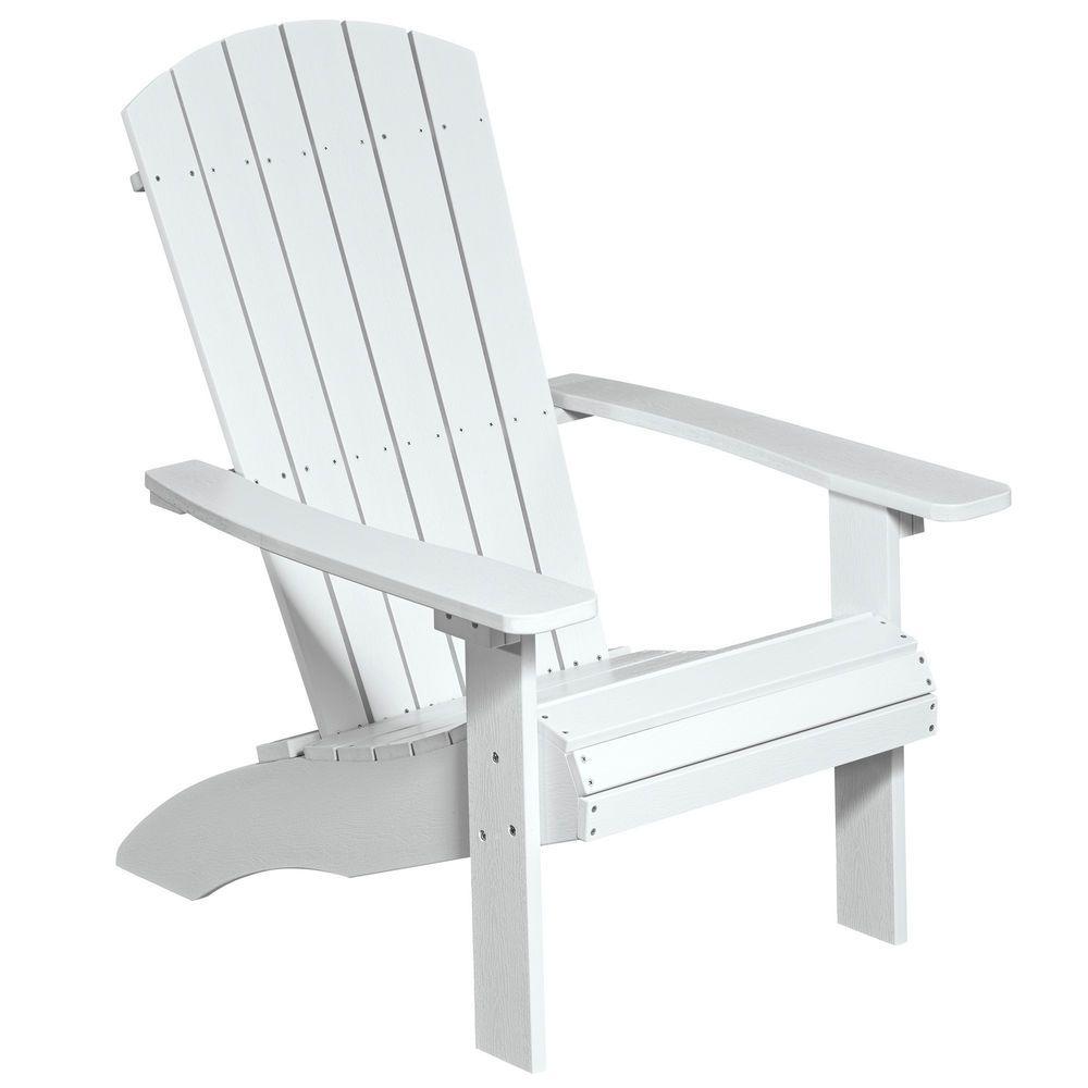 Neg Adirondack Chair Gartenstuhl Sessel Weiss Polywood Kunststoff
