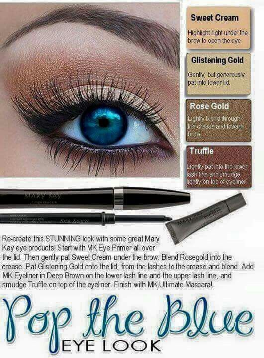Mary Kay Looks For Blue Eyes Google Search Makeup Pinterest