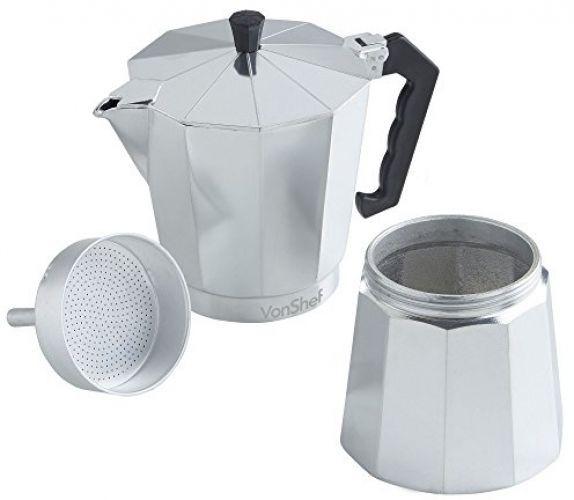 Italian Espresso Coffee Maker Vonshef 12 Cup Stove Top Moka