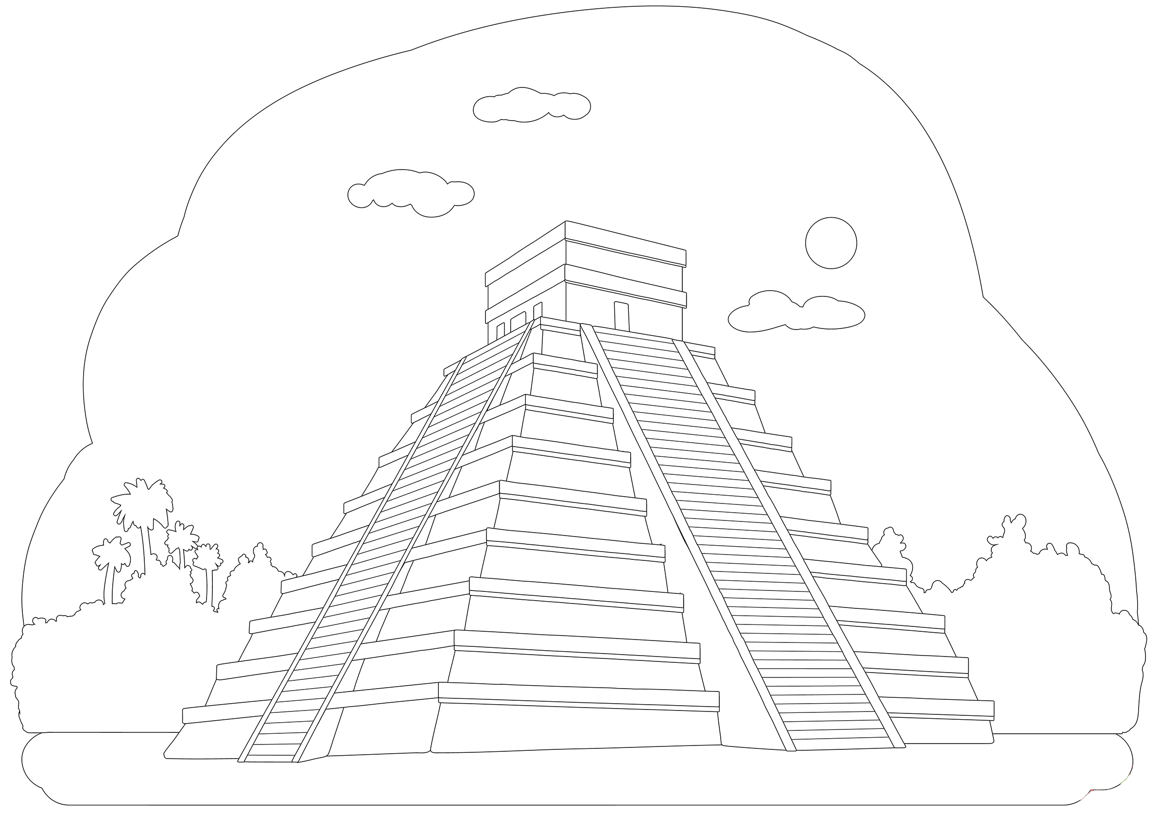 Mexico Sightseeing Coloring Coloring Pages Coloring Pages For Kids Color
