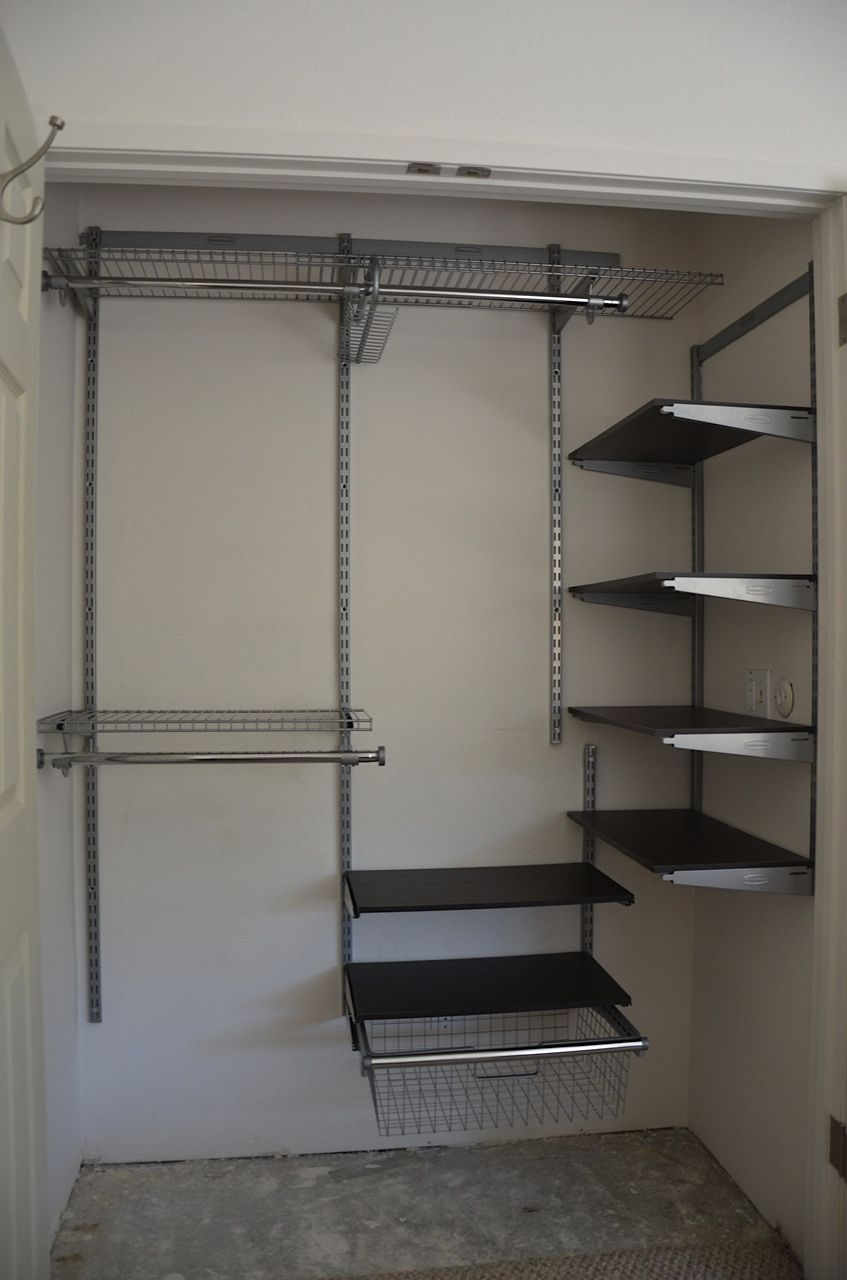 Clever Closet Design With Modifications To Fit Smaller