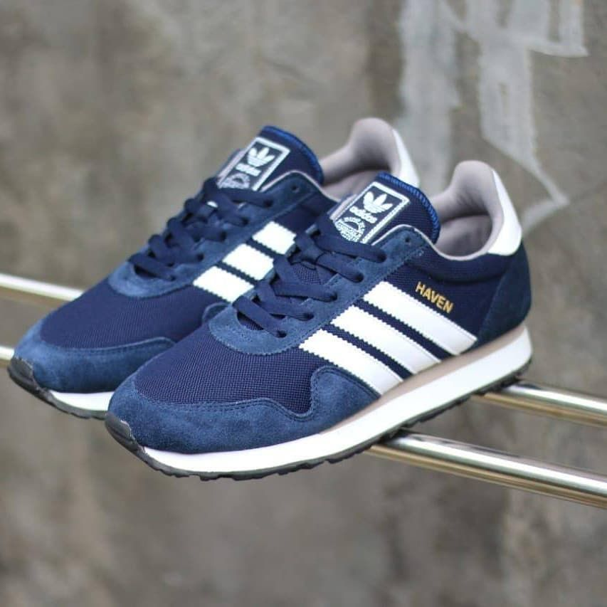 Ready Stock Adidas Haven Suede Navy List White Bnwb Size 40