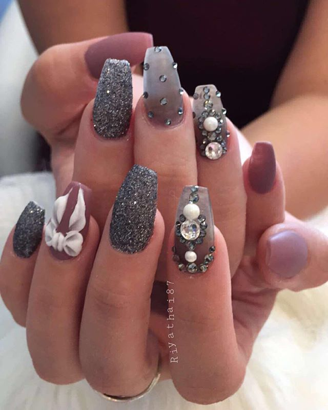 riyasnailsalon | nails❤ | Pinterest | Diseños de uñas, Uñas ...