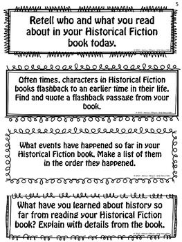 Historical Fiction Reading Exit Slips Grades 4 6 Formative