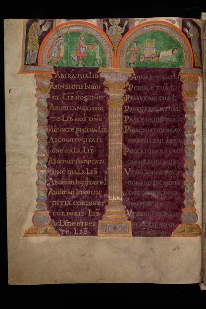 St. Gallen, Stiftsbibliothek, Cod. Sang. 23, p. 12 – Folchart Psalter (Psalterium Gallicanum with Cantica)