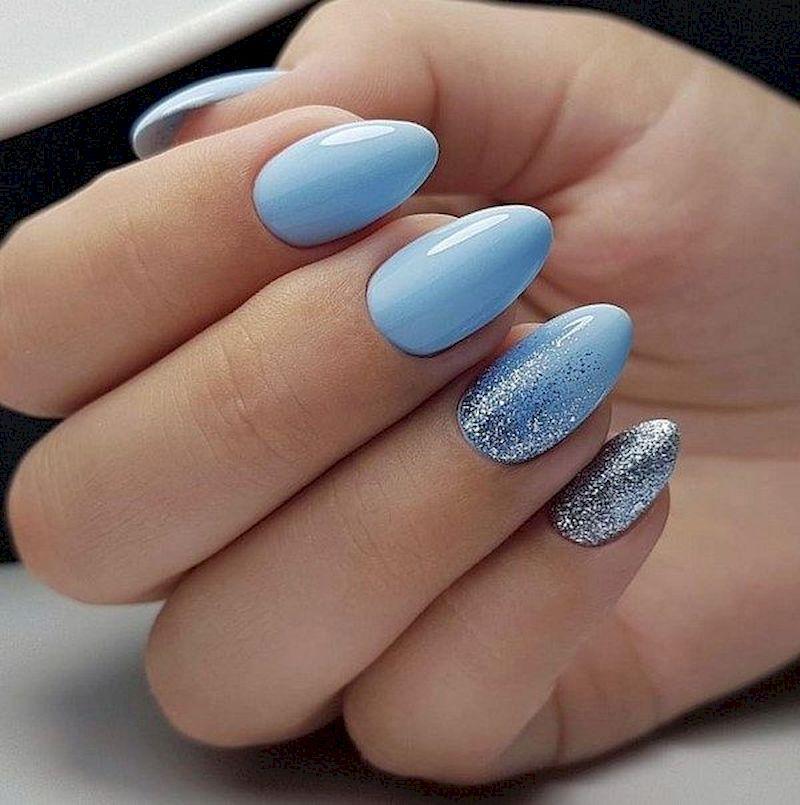 Pin By Sara Reggi On Glitter Nail Design S Blue Glitter Nails