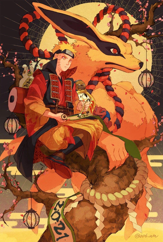 Photo of   Save & Follow   Naruto Uzumaki • Kurama • Naruto Shippuden
