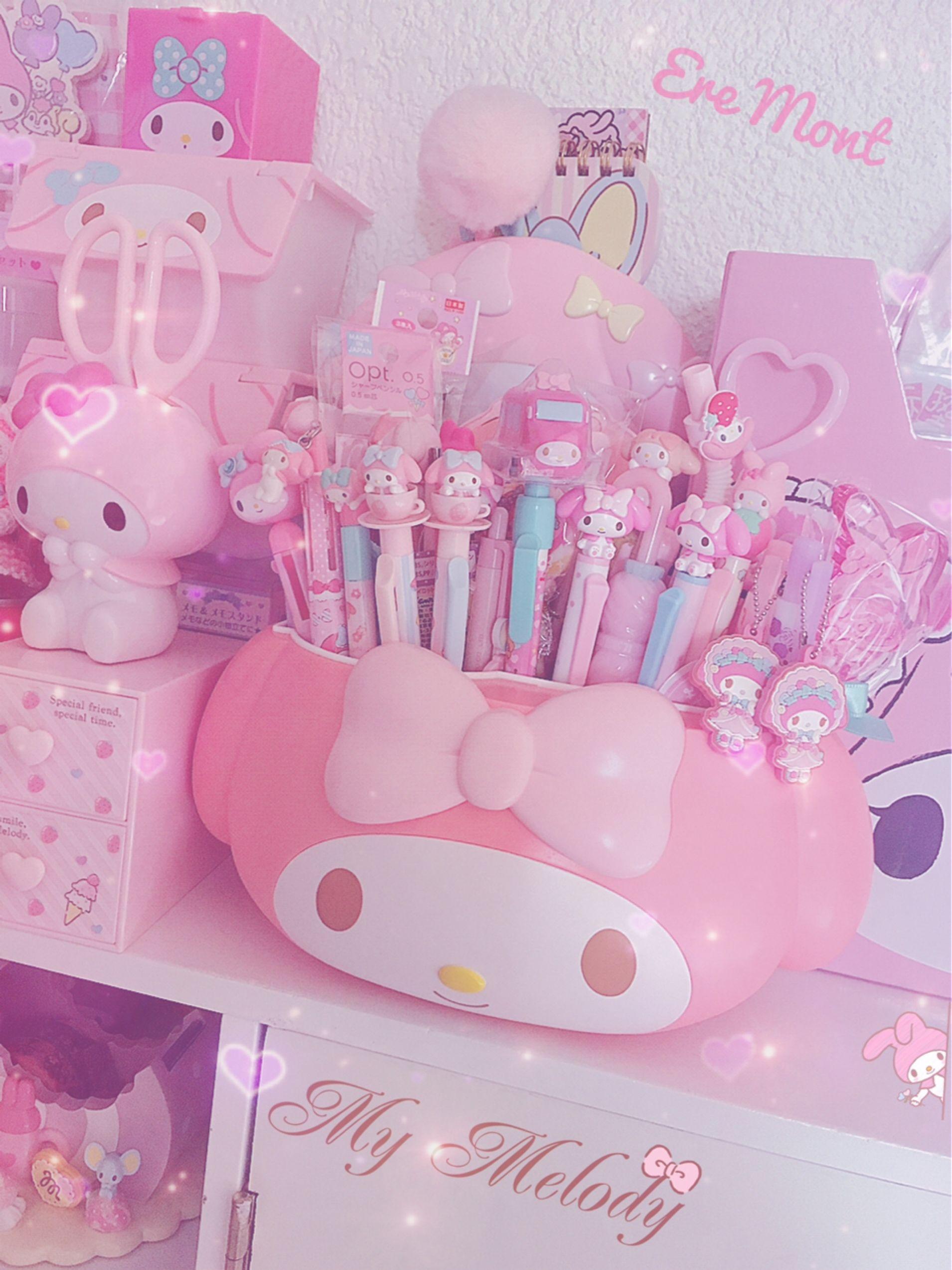 Kawaii Room With Pink Things Anime Otaku Room Kawaii Bedroom Kawaii Room