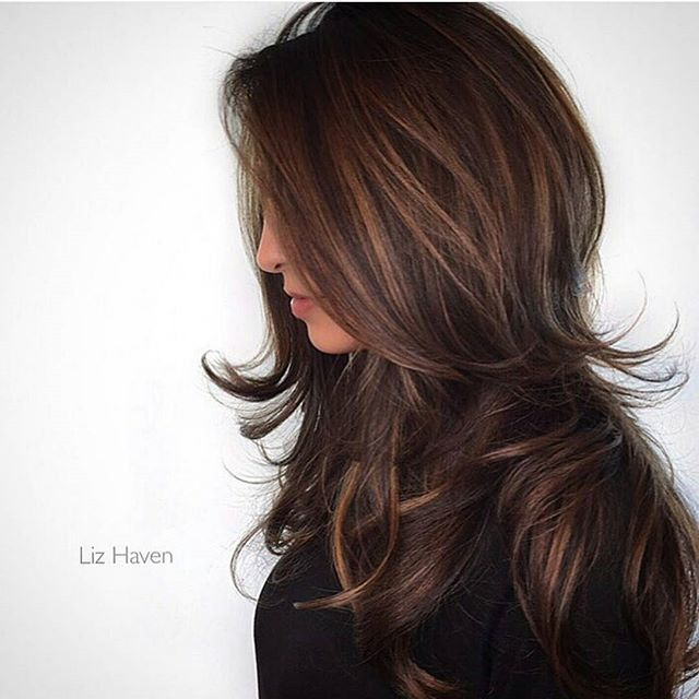 How To Caramelized Chocolate Layers Behindthechair Com Hair Styles Long Hair Styles Hair