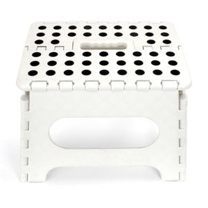 kikkerland Easy Fold Step Stool White 9   sc 1 st  Pinterest & kikkerland Easy Fold Step Stool White 9