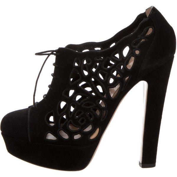 Pre-owned - Black Suede Heels Valentino 5fSd3jkuv