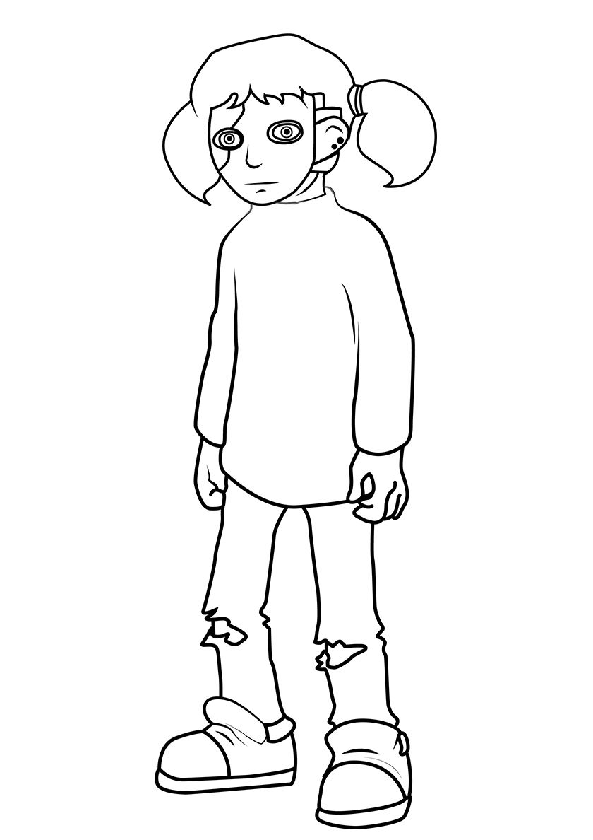 The Protagonist Of The Game Coloring Pages Protagonist
