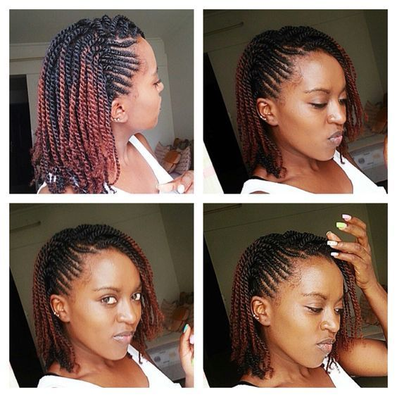 easy natural hair winter protective