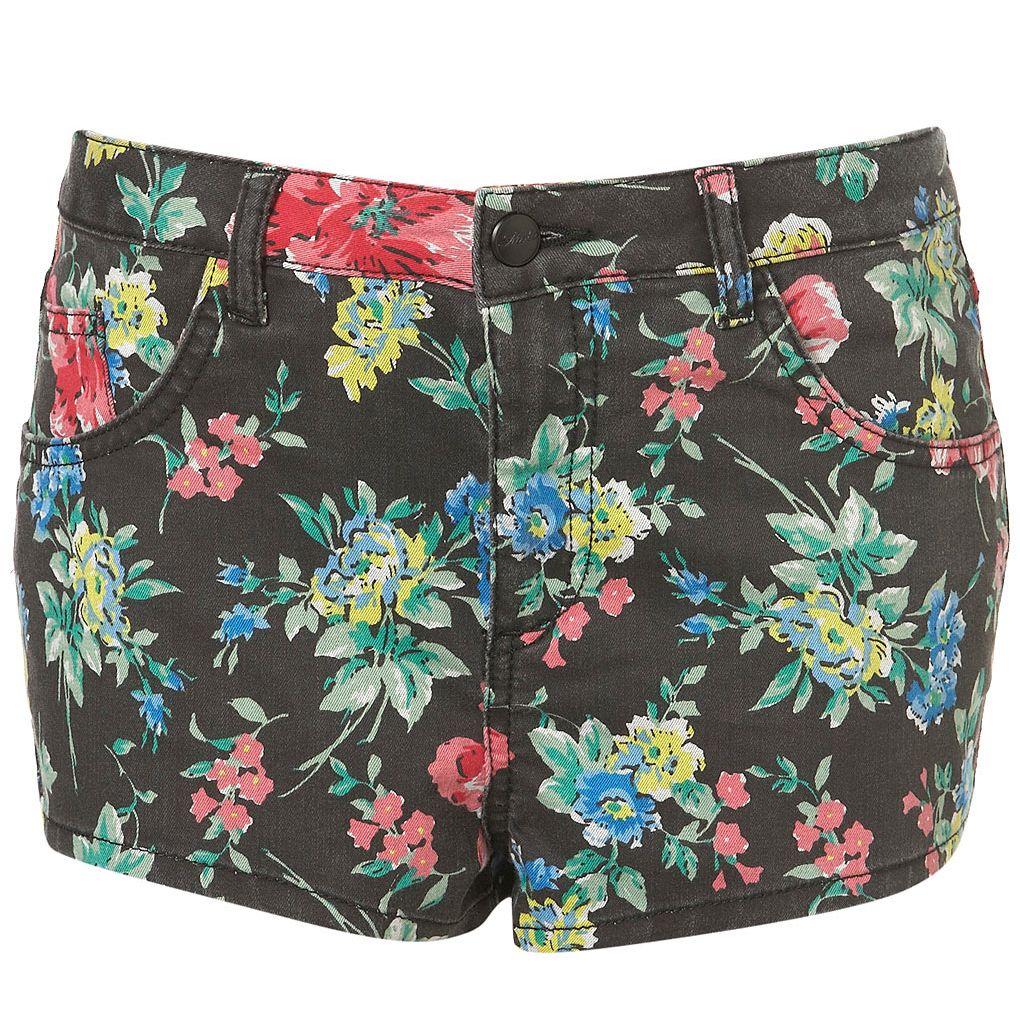Floral Printed Hotpants - TOPSHOP