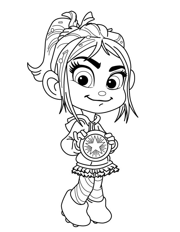 wreck it ralph vanellope coloring pages - vanellope doesn 39 t get a medal hannah hannah 39 s