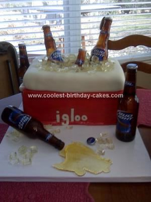 Coolest Ice Chest Filled with Beer Cake Beer cakes Homemade ice