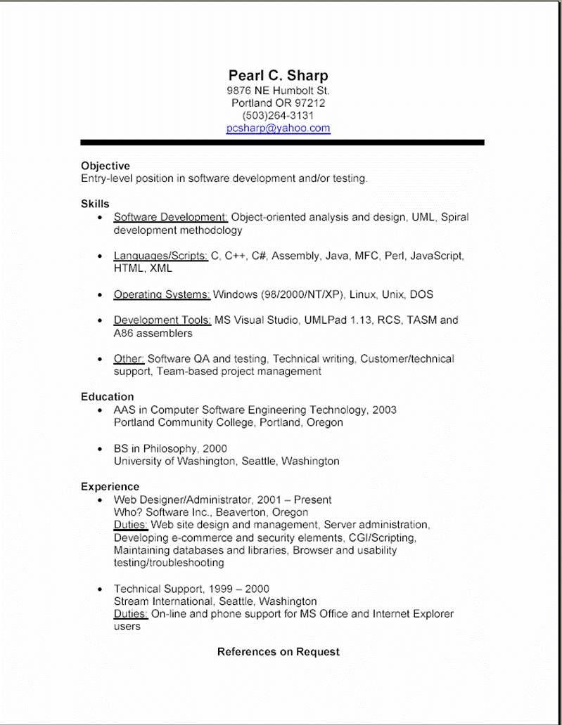 U Of C Cv Template Job Resume Examples Job Resume Format Job Resume