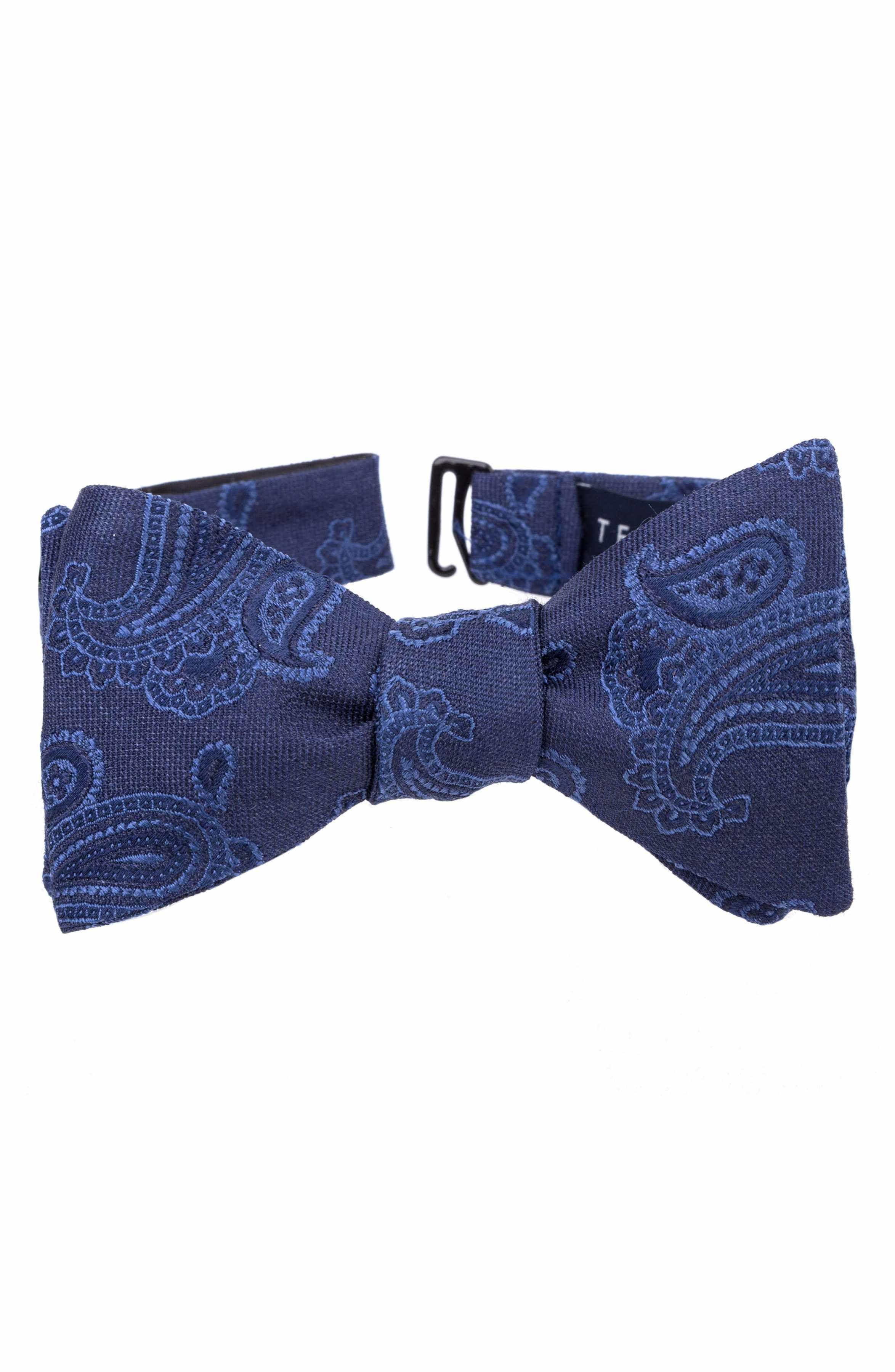 Self tie bow tie - Blue Flowers & leaves - Notch HYLLNING BLUE Notch 4T2M5UkJ