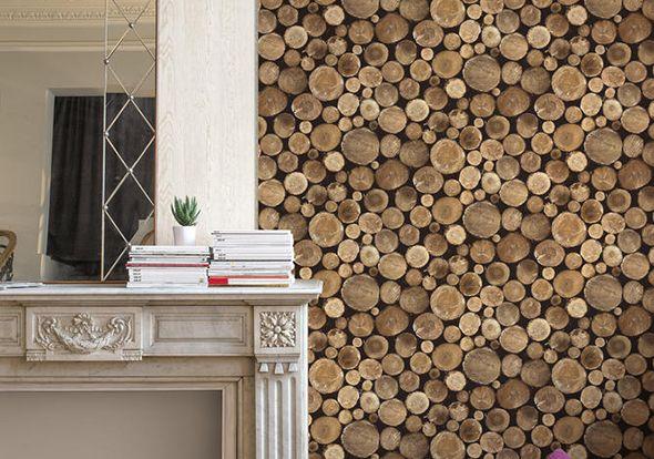 Stacked Wood Beton Sten Trae Tapetkunst Dk Wood Effect Wallpaper Wood Wallpaper Galerie Wallpaper
