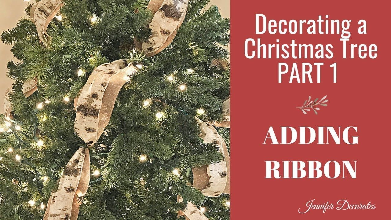 Christmas Tree Decorating Adding Ribbon Christmas 2018 Youtube Ribbon On Christmas Tree Christmas Christmas Hanging Decorations