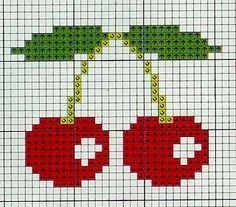 Photo of cherry cross stitch …