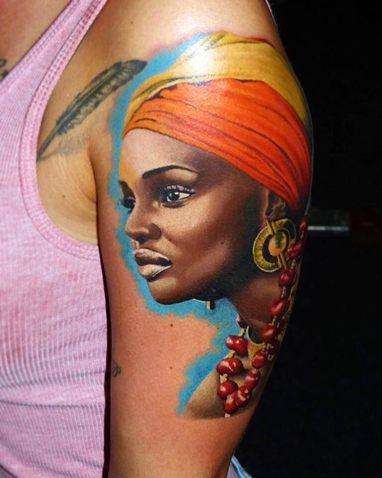 African Girl Tattoo By Korky Limited Availability Revelation