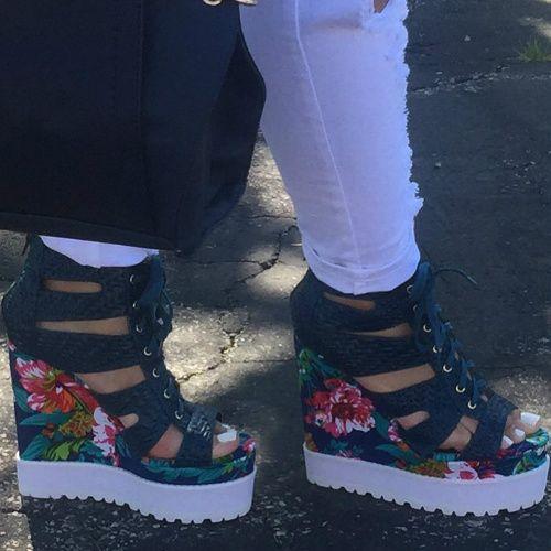 Privileged Shoes Laced Platform Wedges