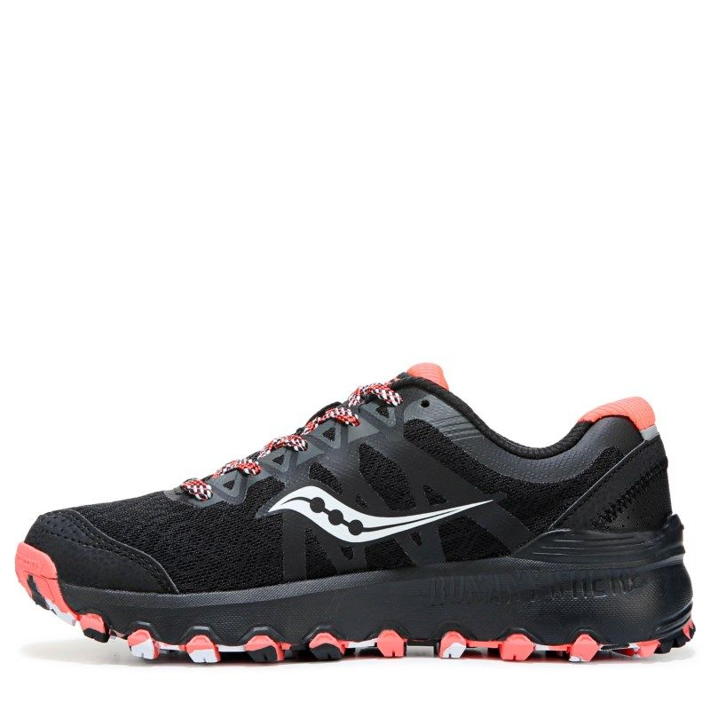 f48bd860ff02 Saucony Women s Grid Caliber Trail Running Shoes (Black Coral White) - 5.5 M