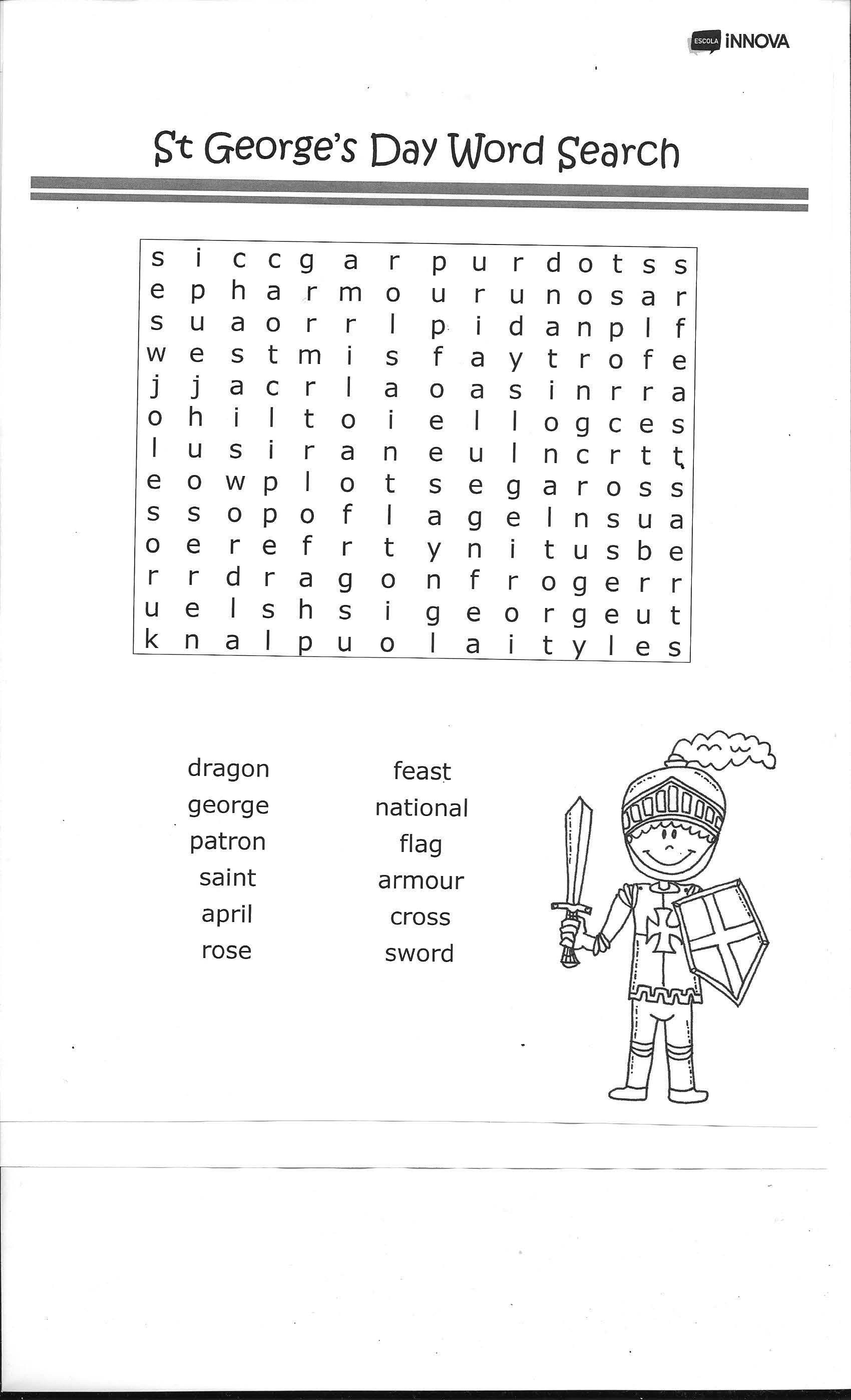 St George S Worksheet 1 Infantil I Primaria
