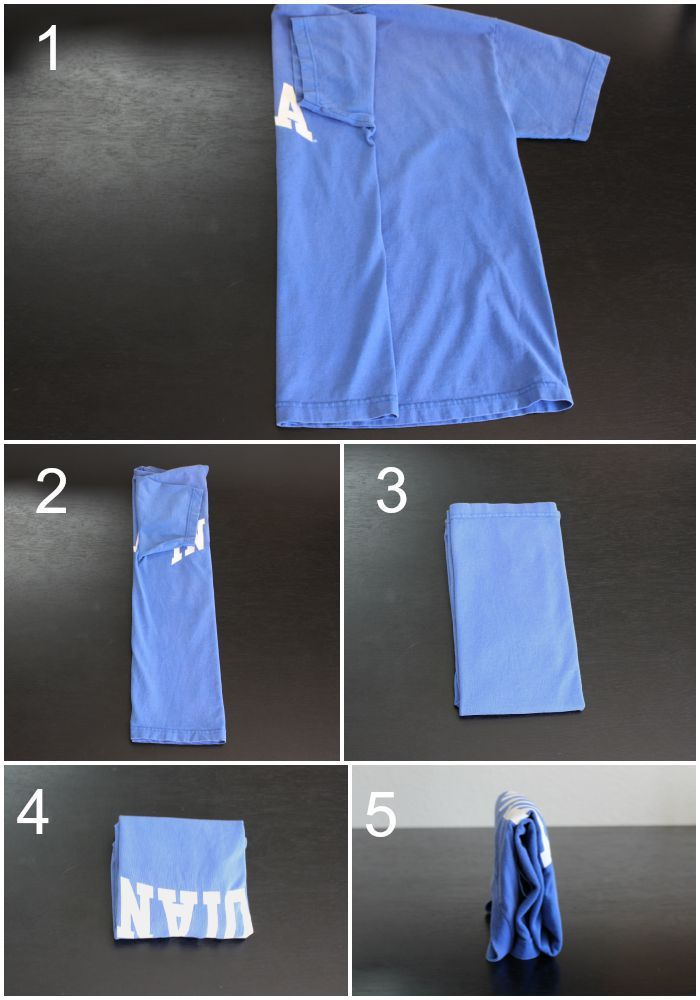 How to Fold T-shirts with the KonMari Method - Overdue Organizing ...