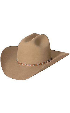 eee56fb4d09d5 Resistol 6X George Strait Silver Eagle Chestnut Felt Cowboy Hat ...