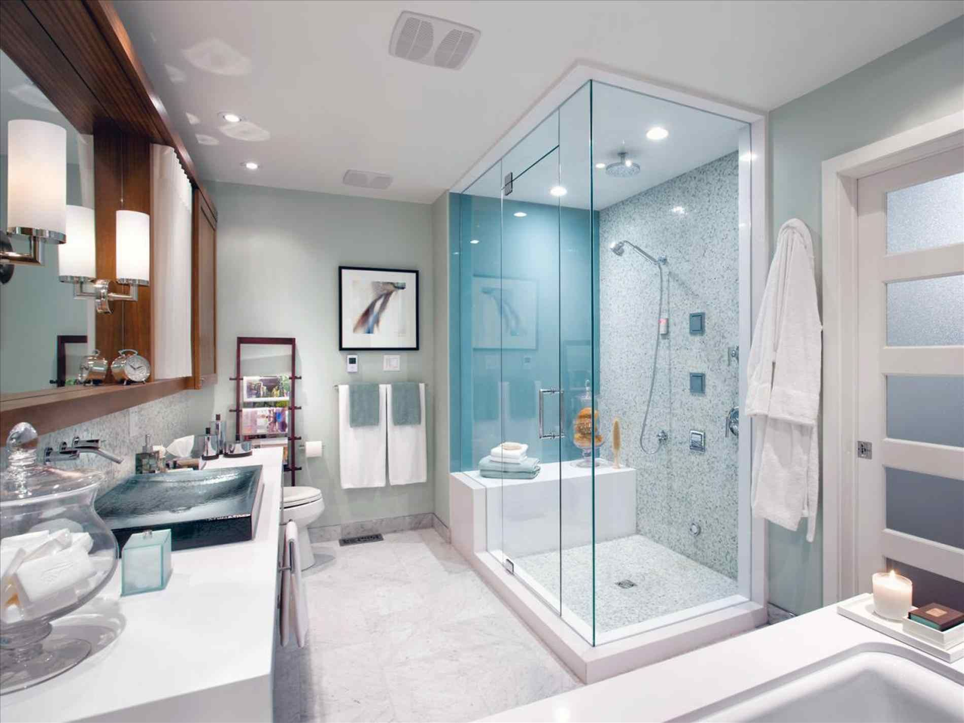 House Beautiful Master Bathroom, Glass  Bathroom interior design