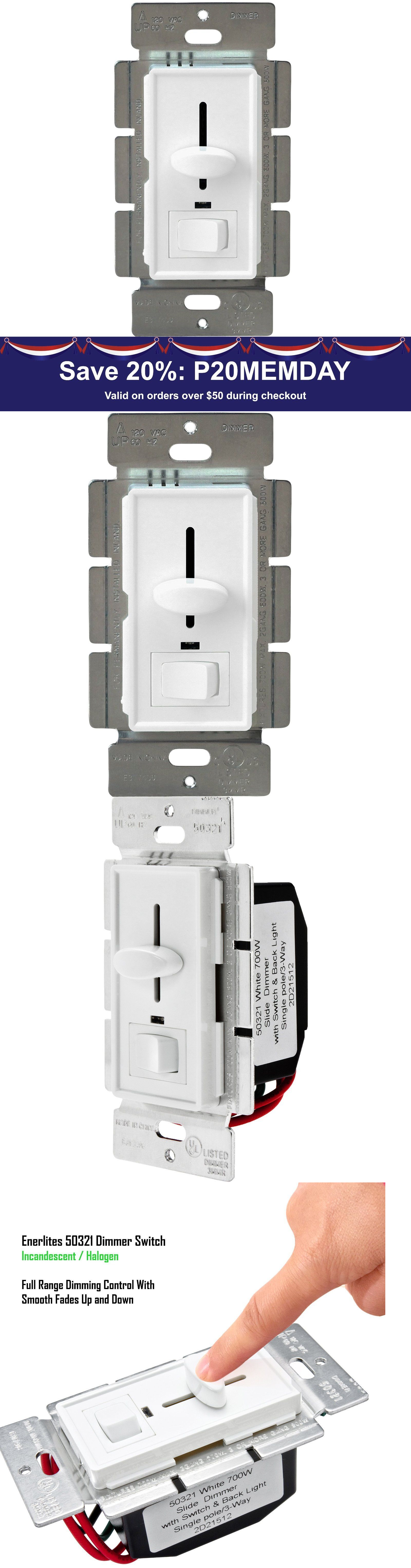 Dimmers 41984: Decorator Dimmer Slide Light Switch 3-Way With White ...