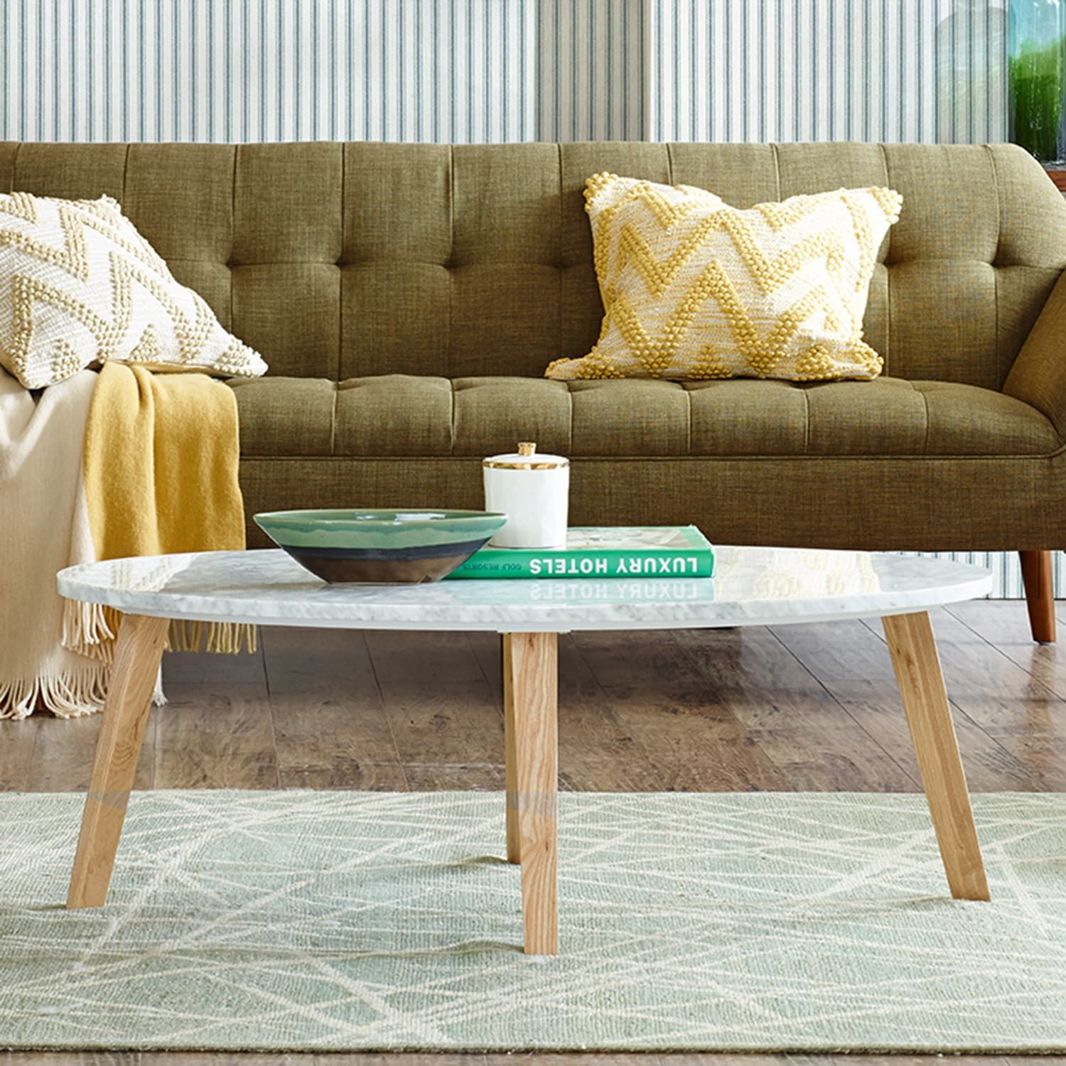 Ink Ivy Milo Marble Coffee Table Coffee Table Coffee Table White Stylish Coffee Table