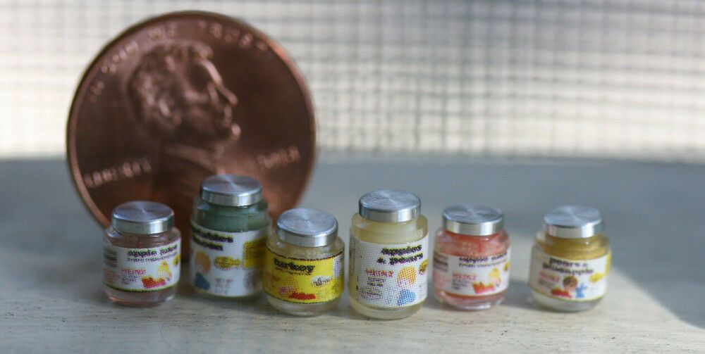 Box of Baby Food Dollhouse Miniature Food 1:12 Scale