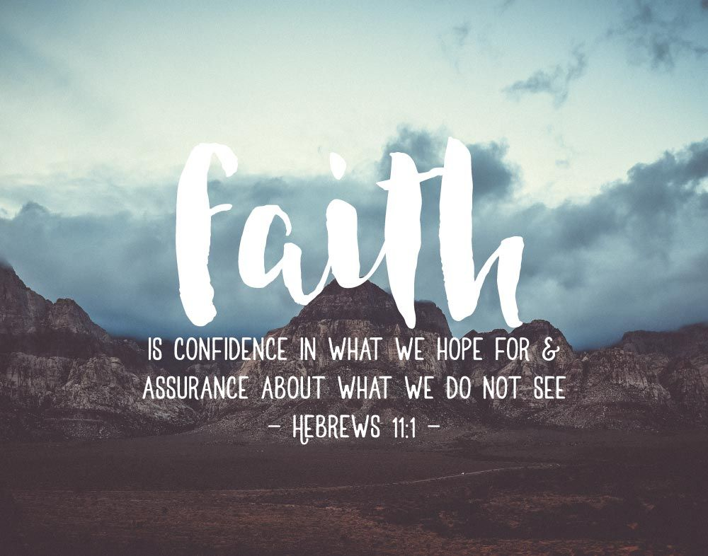 Faith Quotes: Faith Is Confidence In What We Hope For