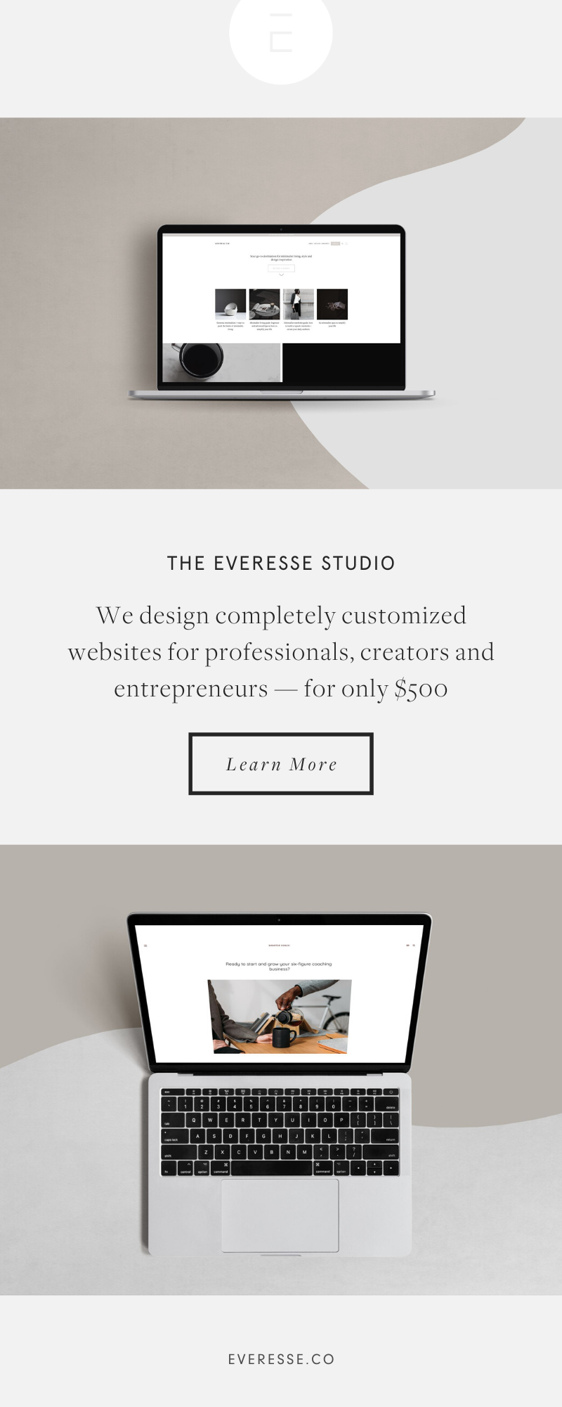 We Design Exceptional Completely Customized Websites For Professionals Creators And Entrepreneurs For O In 2020 Custom Website Design Simple Website Website Design