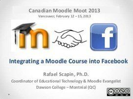 Integrating A Moodle Course Into Facebook Online Teaching Instructional Design Elearning