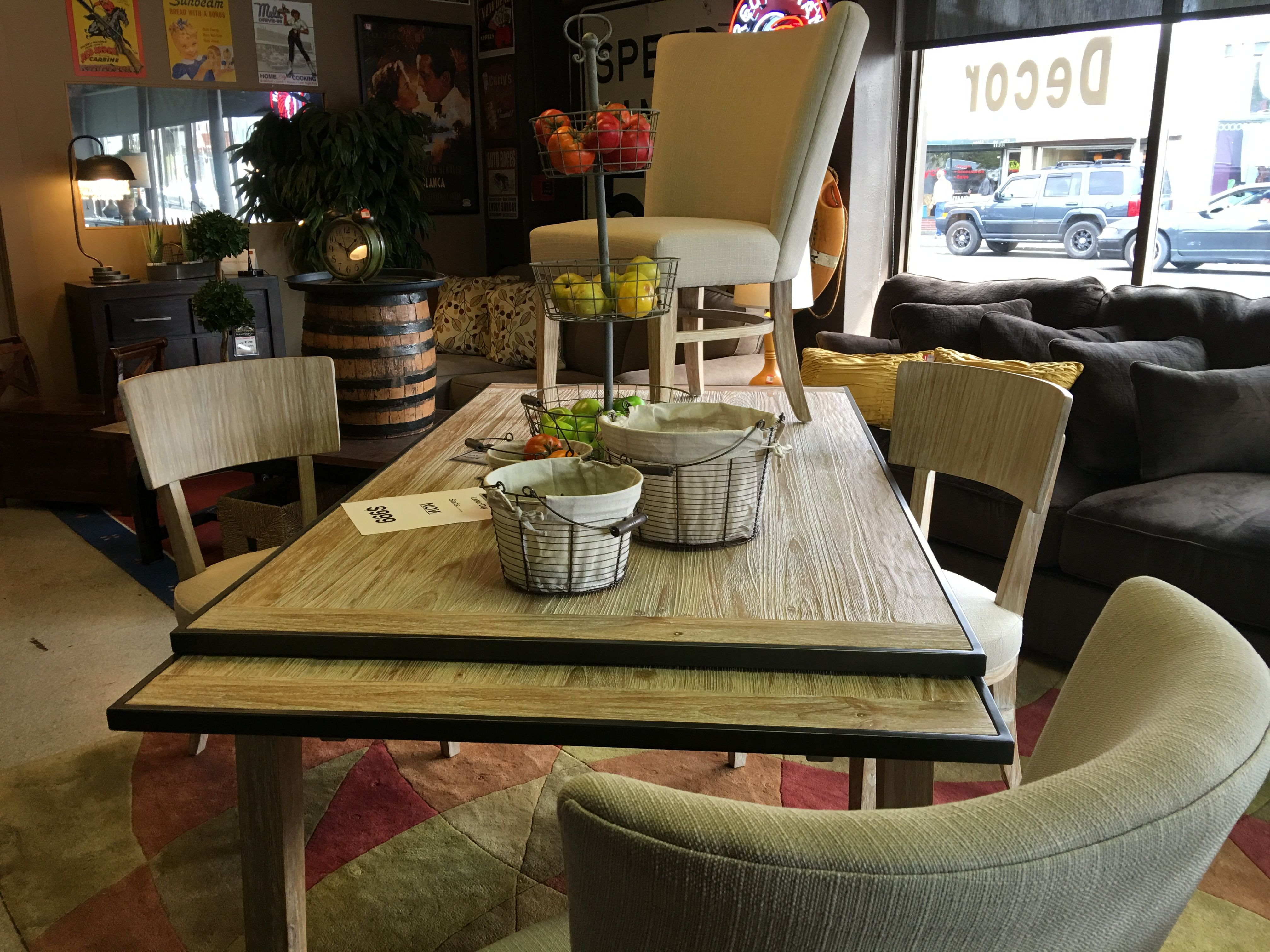 Dining Table With Pull Out Leaves Rail Creek Furniture Co