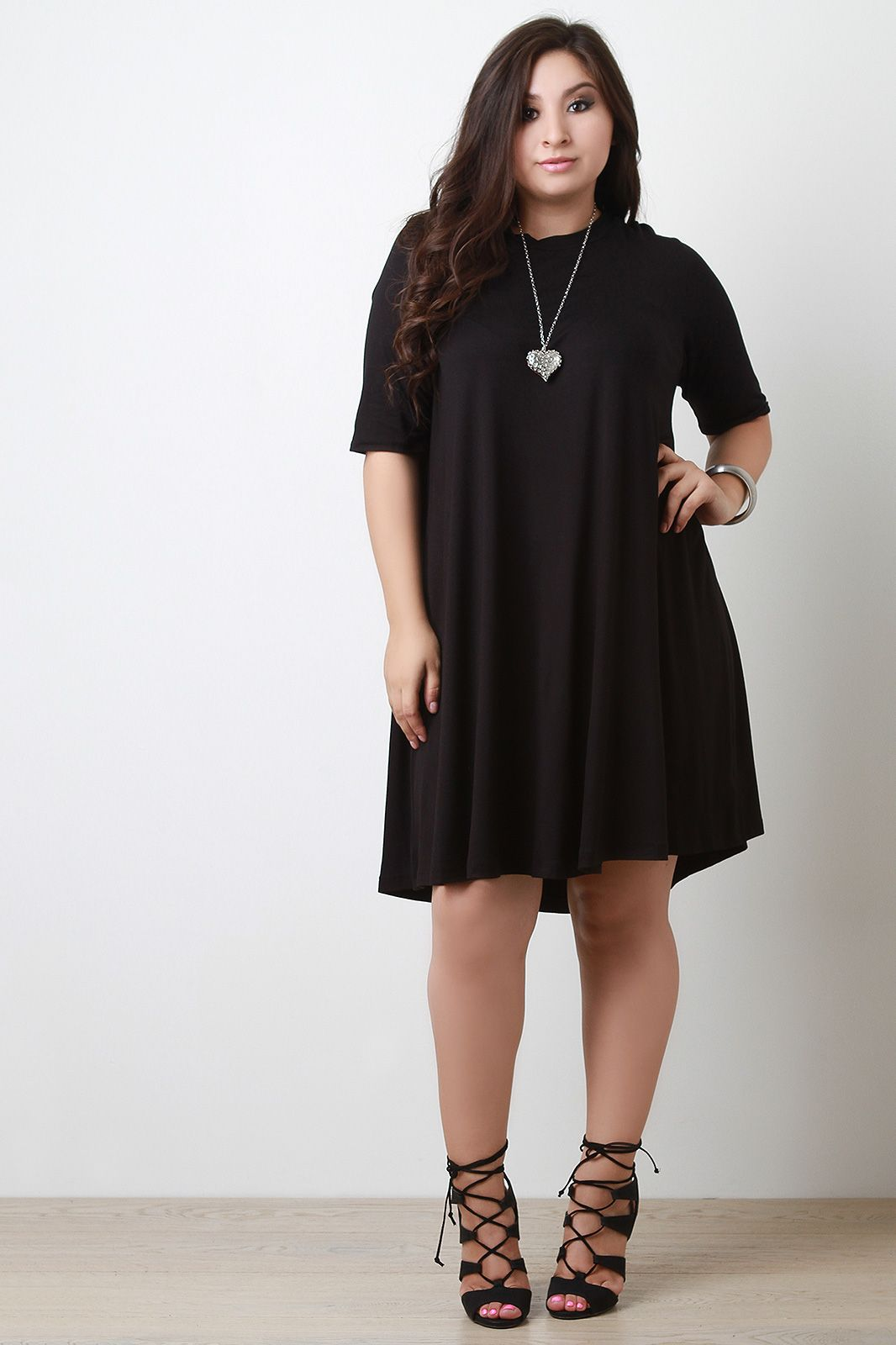 Plus Size Half Sleeve Shift Dress UrbanOG Dresses