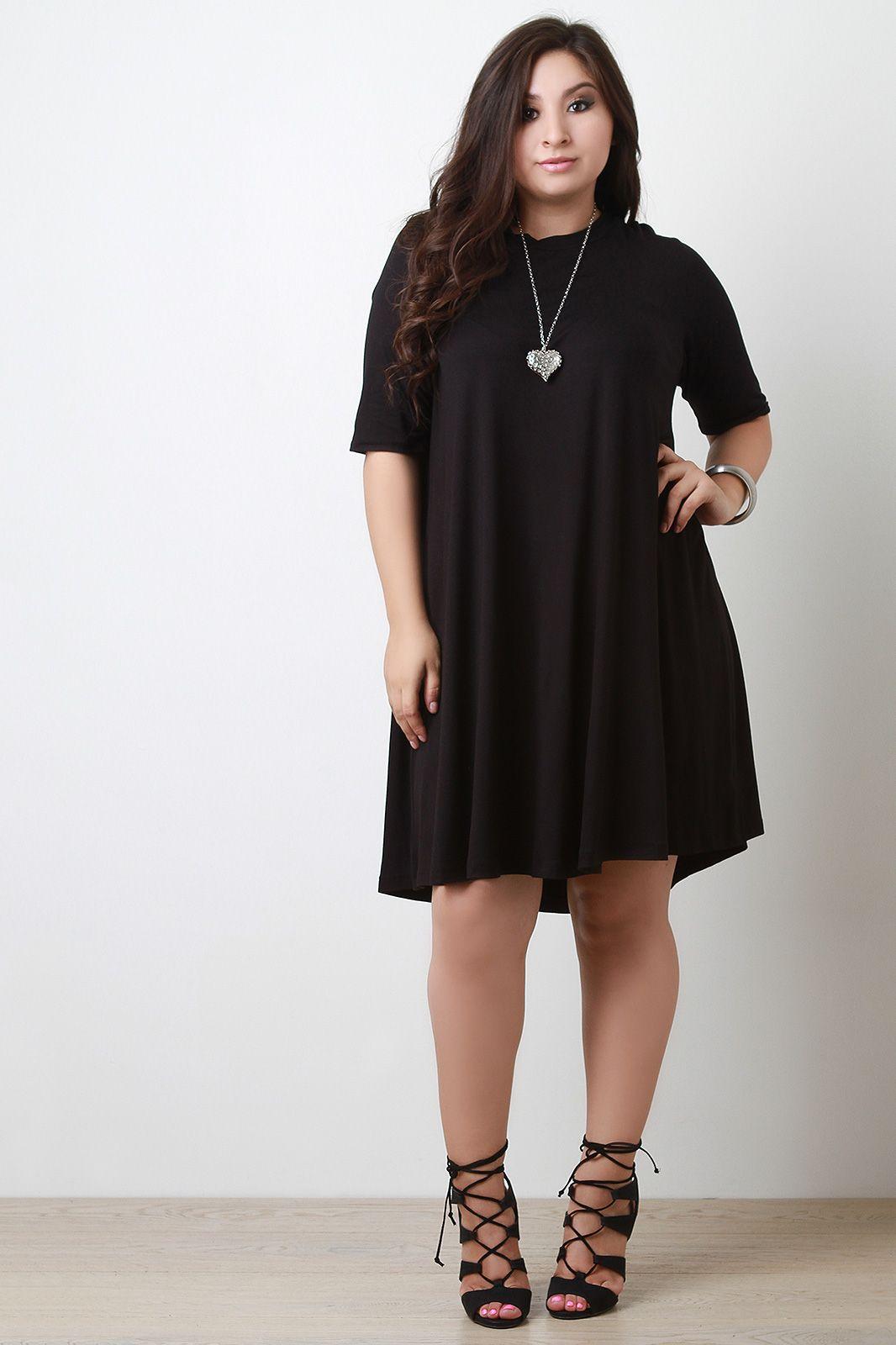 Plus Size Half Sleeve Shift Dress | UrbanOG | outfits | Pinterest ...