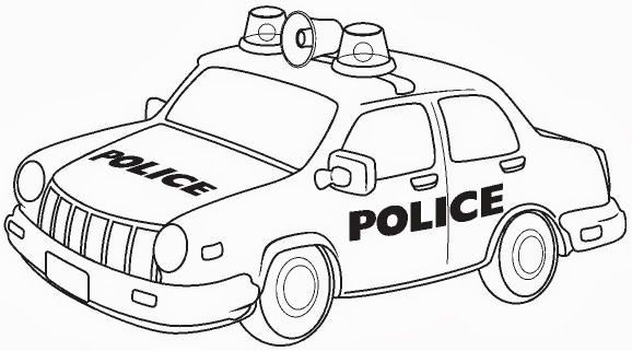 Police Car Bezpecko Na Ceste Pinterest Cars Coloring Pages