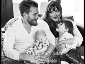 Christian And Ana Beautiful In White Fifty Shades Freed