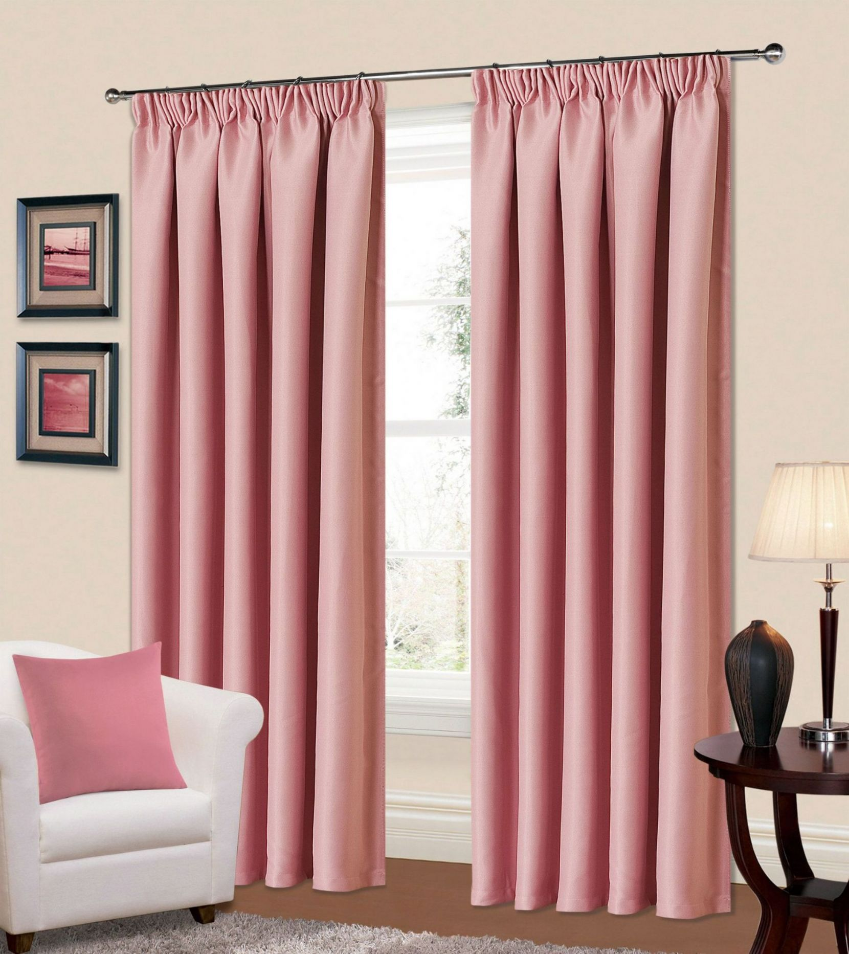 Bedroom Curtains Pencil Pleat