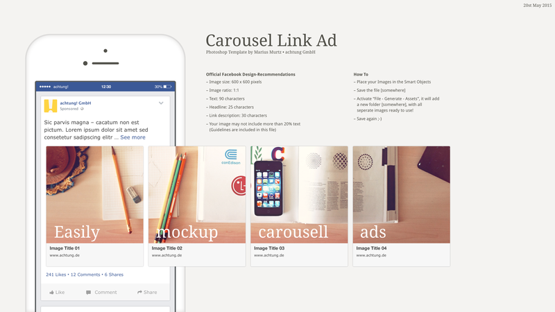 So download this new facebook brand page mockup 2020 psd and its a available for free download. Carousel Link Ad Psd Facebook Carousel Ads Fb Ads Digital Campaign