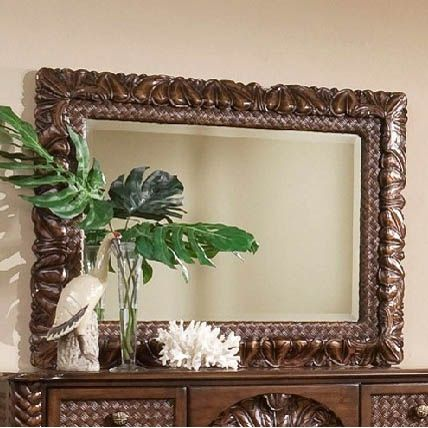The Furniture Warehouse Progressive Palm Court Ii Landscape Mirror